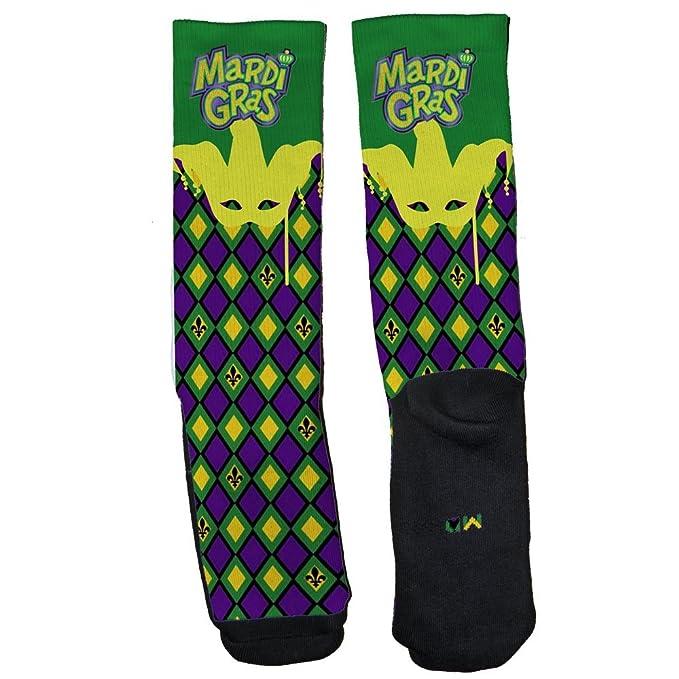 Amazon.com: Personalizado Calcetines de Elite Mardi Gras ...
