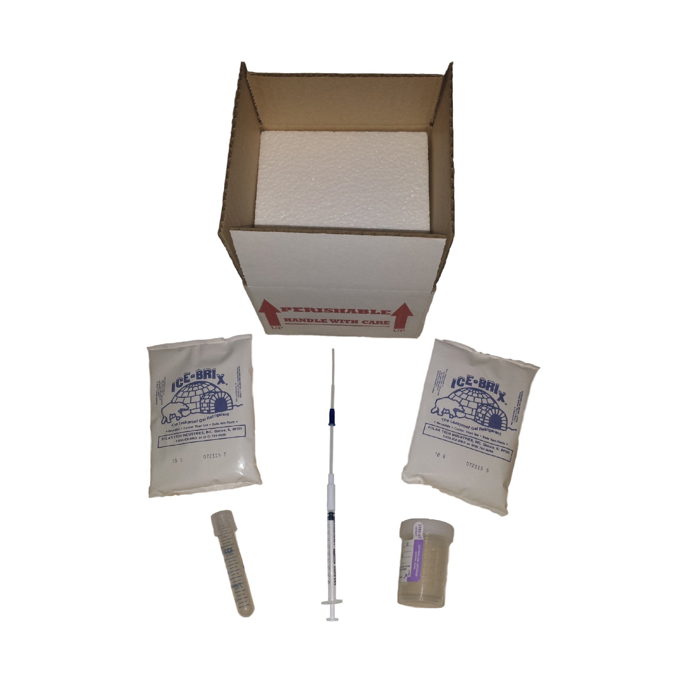 Tenderneeds Fertility Sperm Donor Collection Kit with Insulated Shipping Box by Tenderneeds Fertility
