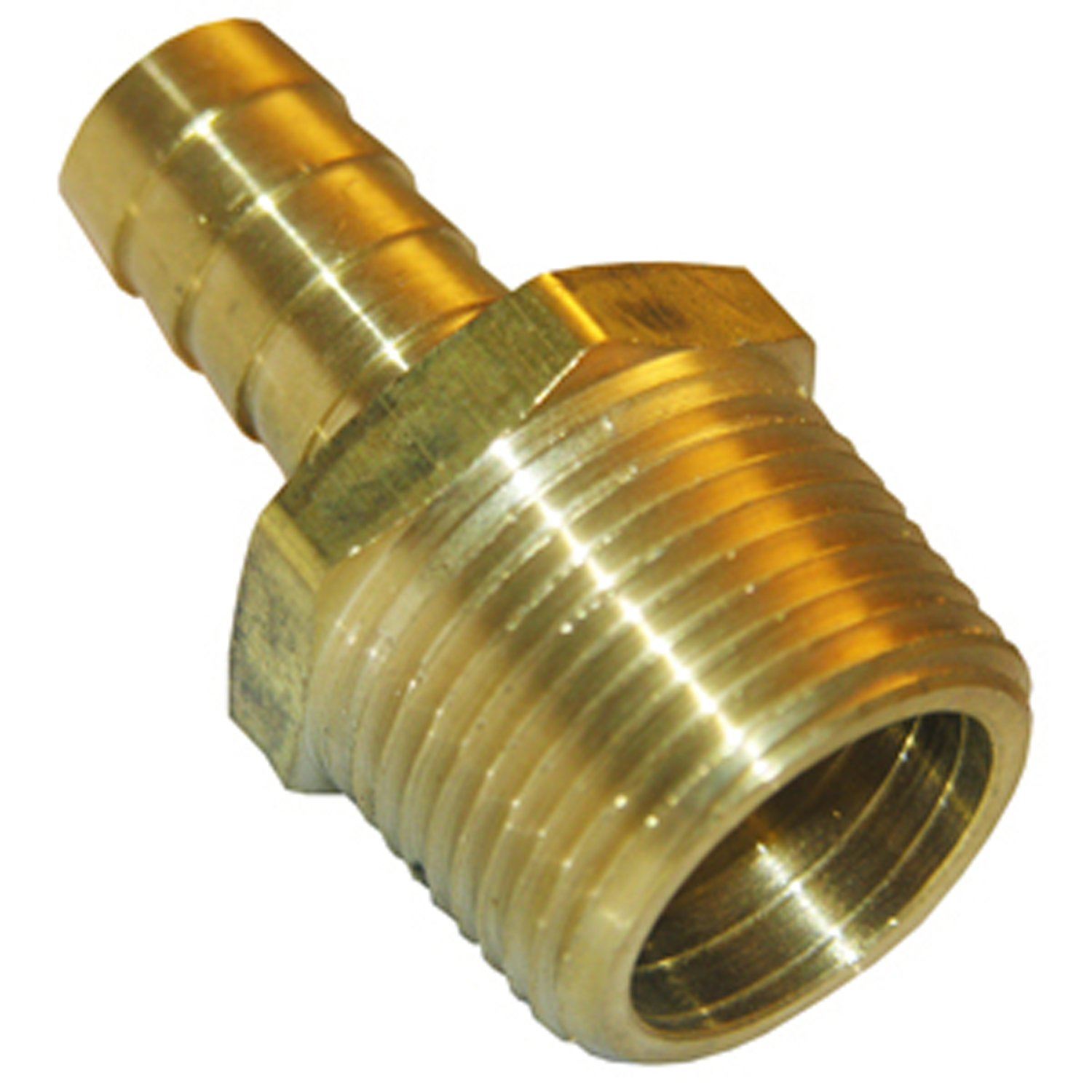 LASCO 17-7701 1//8-Inch Male Pipe Thread by 1//8-Inch Hose Barb Brass Adapter
