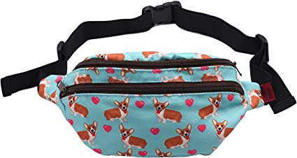 Dog Watermelon Sport Waist Pack Fanny Pack Adjustable For Travel