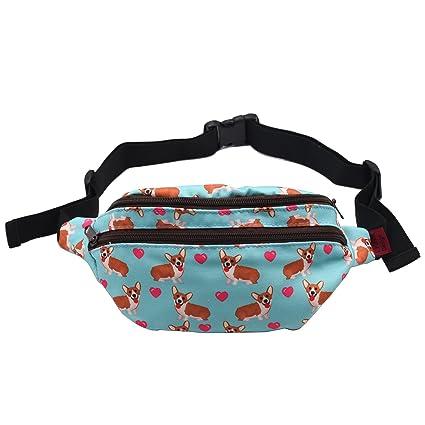 94facc669326 Amazon.com  Corgi Dog Gifts Fanny Pack Hip Bag Waist Bag Canvas Bum ...