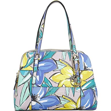 d60529321f50 Amazon.com  GUESS Women s Huntley Cali Satchel Periwinkle Multi ...