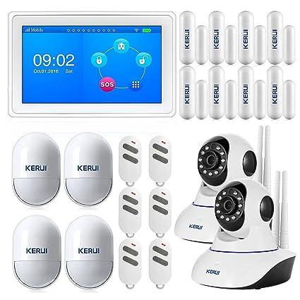 """2017 kerui-k7 7 """"GSM Wifi Kit Alarma de casa garaje de sensor"""