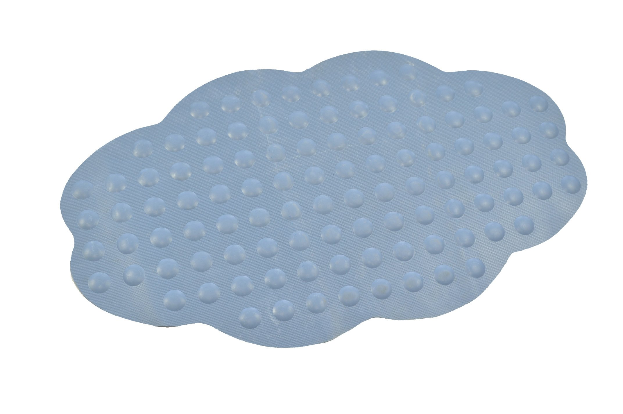 ABELE (R) Cloud Non Slip Rubber Safety Baby Kids Shower Blue Bubble Tub Bath Mat, Skid Proof and Anti Bacterial, Mildew Mold Resistant Bathtub Mat (Blue)