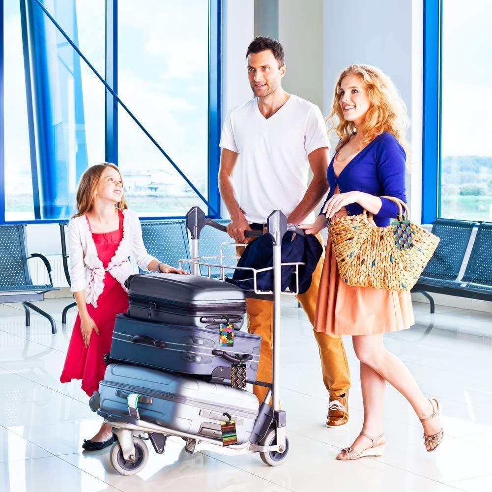 PVC Voyage Sac Valise Identification /Étiquettes pour Identifier Bagages Voyage Tag /Étiquettes pour Bagages 8 pi/èces TECHVIDA Voyage Bagages Tag