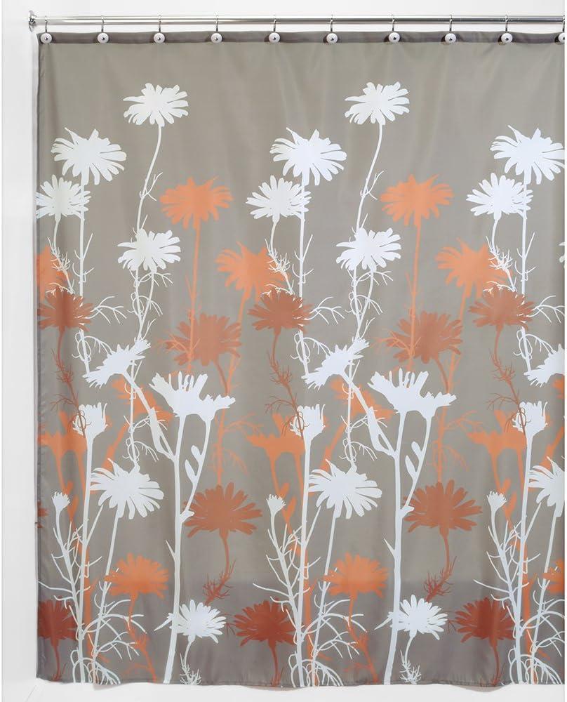 72 x 72 College Dorm Bathroom Kids InterDesign Bazaar Fabric Shower Curtain for Master Guest Brown