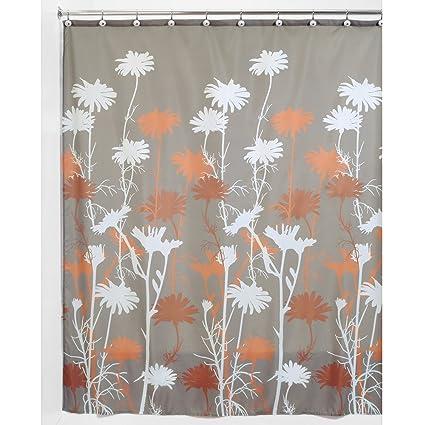 Amazon InterDesign Daizy Shower Curtain Mushroom And Spice 72