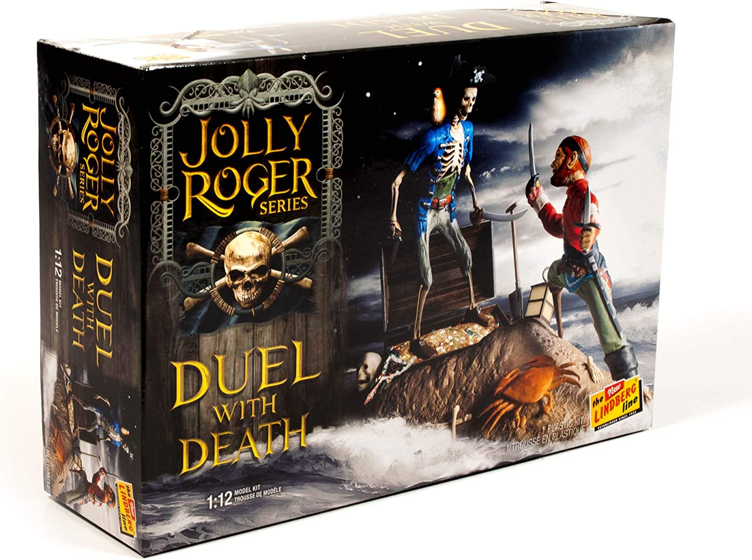 LINDBERG Jolly Roger Series: Duel with Death 1:12 Scale Model Kit Diorama