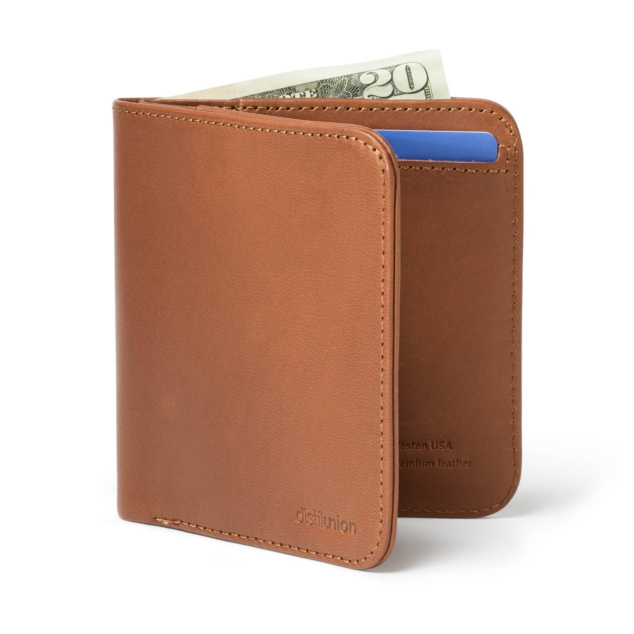 Distil Union/Wally Agent[ウォリーエージェント] メンズ 二つ折りスリム財布 お札入れ&カードホルダー B01MXEVVTJ ヒッコリー ヒッコリー