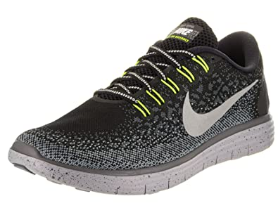 Women s Nike Free RN Distance Shield BLACK METALLIC SILVER-DARK  GREY-STEALTH 6 3670bbdaff
