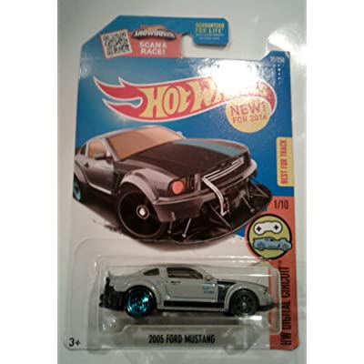 Hot Wheels 2016 HW Digital Circuit 2005 Ford Mustang 21/250, Gray: Toys & Games
