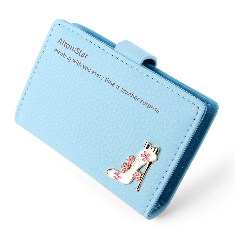 Kreditkartenetui Leder Kartenetui Damen - 20 Karten (Blau) UKCH20BL03