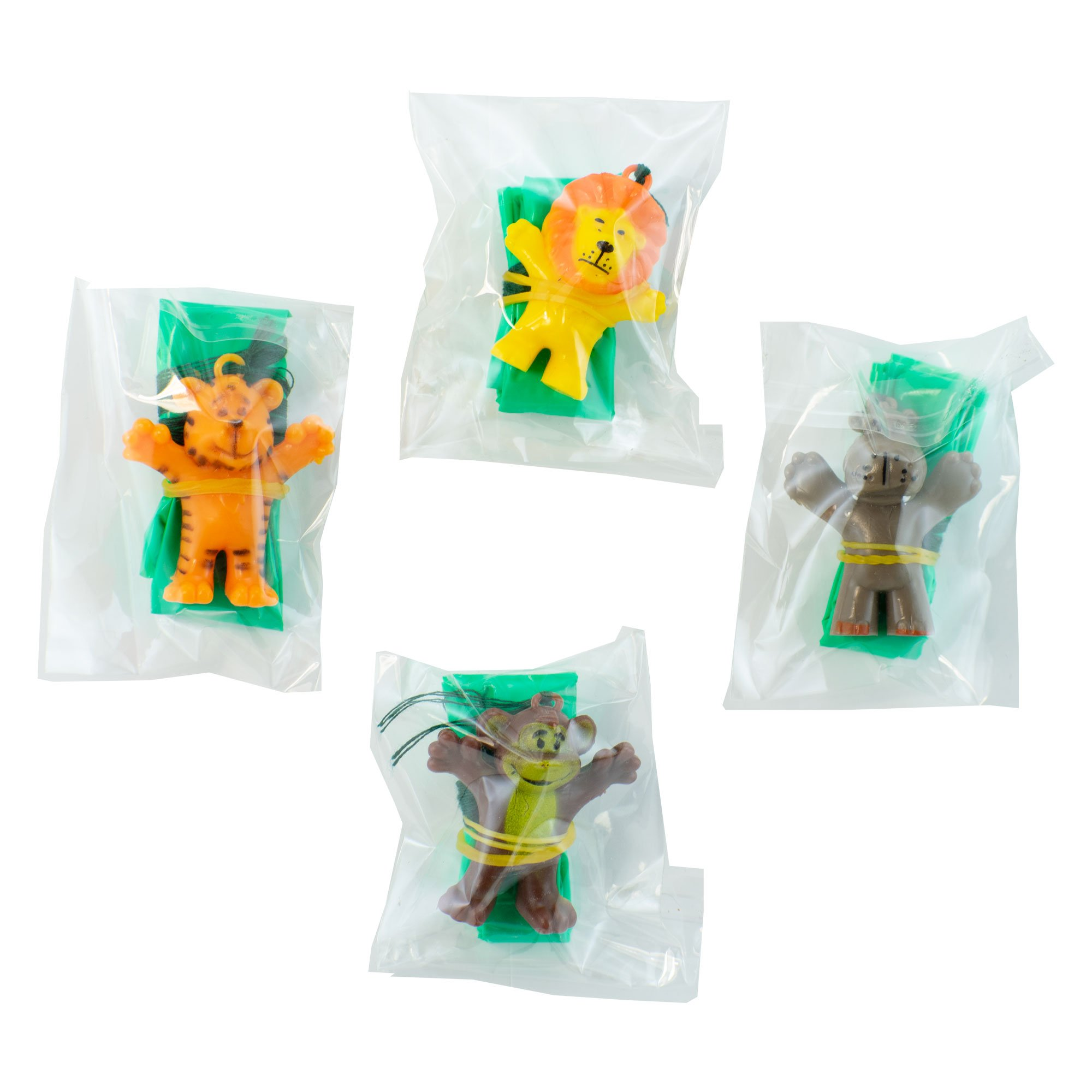 Giggletime Toy Co. Safari Animal Parachutist Assortment - (48) Pieces - for Kids, Boys and Girls, Party Favors, Pinata Stuffers, Children's Gift Bags, Carnival Prizes by Giggletime Toy Co. (Image #4)