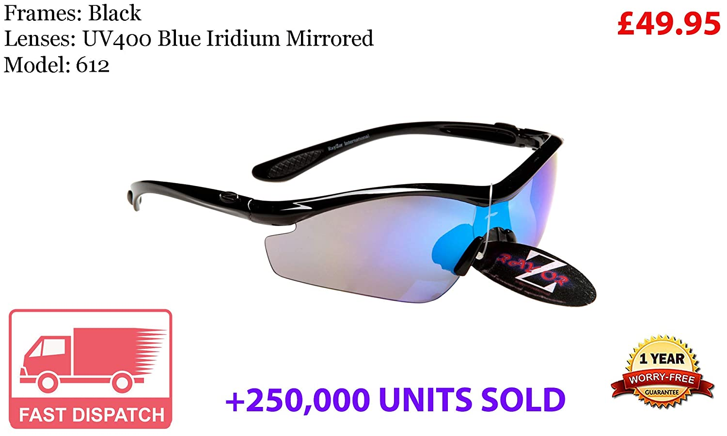 401 RayZor Uv400 Pink Sports Wrap Sunglasses Vented Pink Mirrored Lens RRP£49