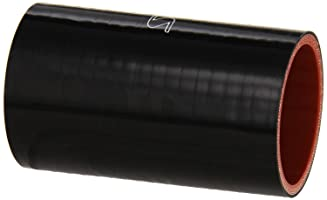 "HPS HTSC-200-L4-BLK Silicone High Temperature 4-ply Reinforced Straight Coupler Hose, 85 PSI Maximum Pressure, 4"" Length, 2"" ID, Black"