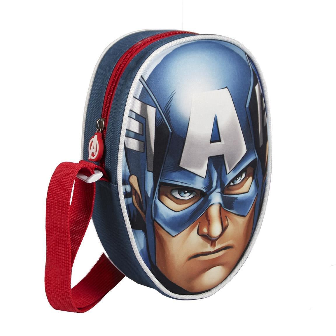Cerdá Capitán América - Bolso Bandolera, Azul, 18 cm 2100001663