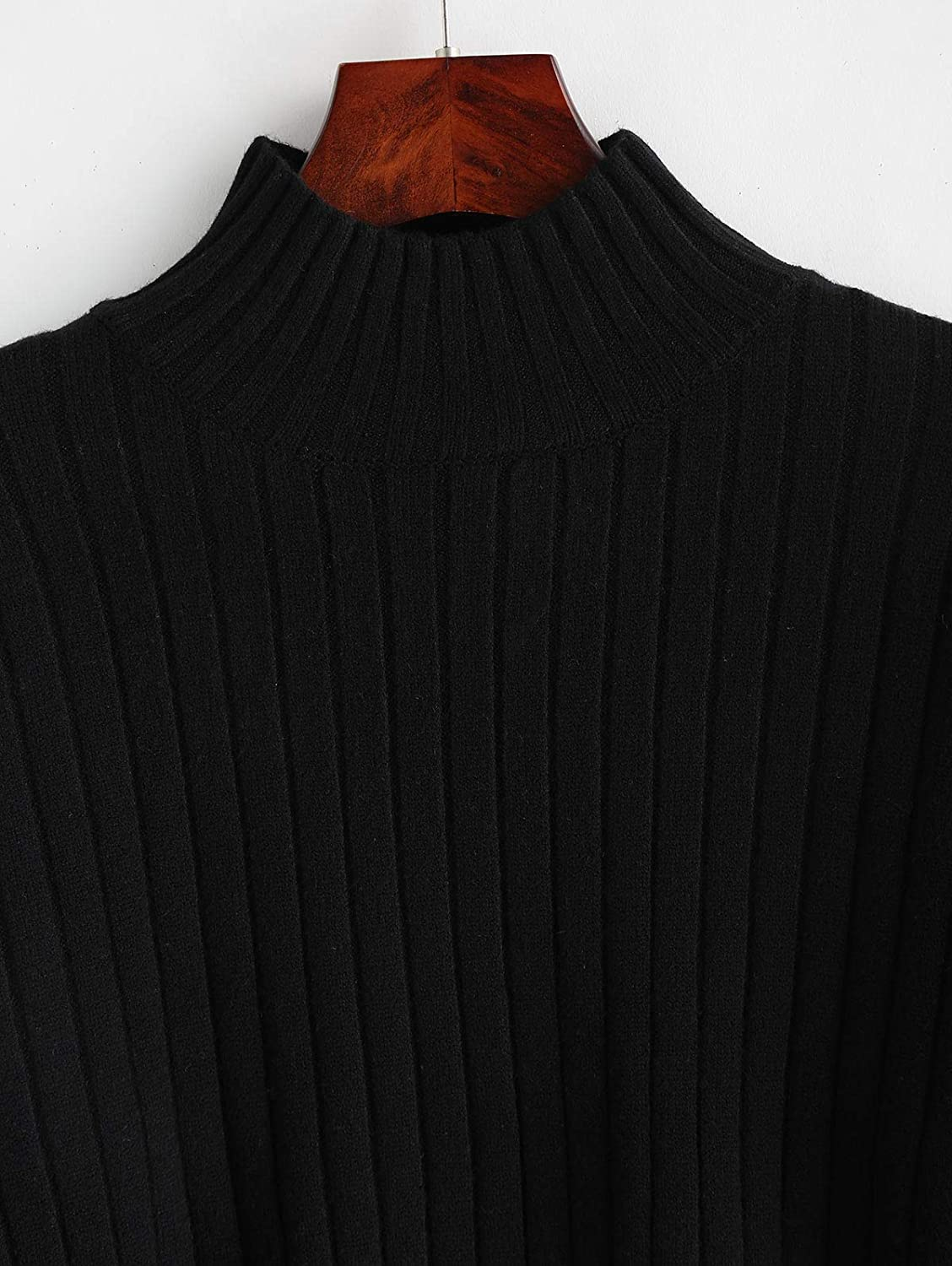 ZAFUL Pull Femme Tricot/é Col Roul/é Sweater /à Manches Longues Hiver Chaud Pullover