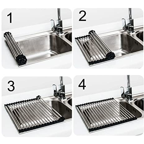 Amazon.com: New Multifunction Stainless Steel kitchen Sink Rack ...
