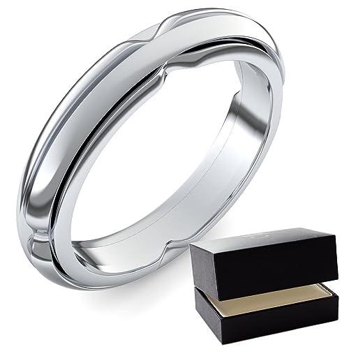 Oro blanco alianzas de matrimonio Ring/Anillo 750 + Incluye Luxus Funda + Libre de