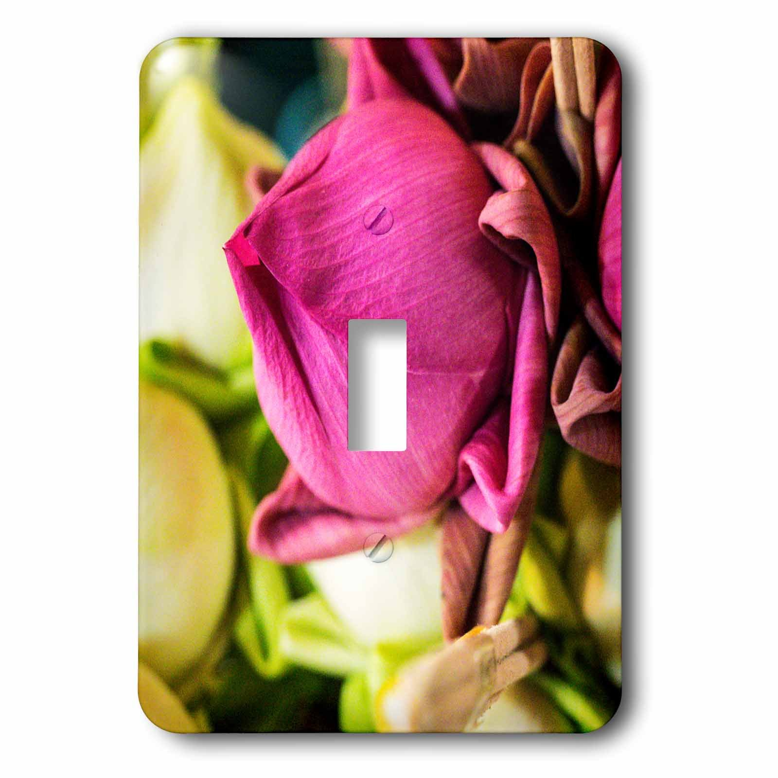 3dRose Danita Delimont - Flowers - Thailand, Chiang Mai, Flowers at the Thai Market Place - Light Switch Covers - single toggle switch (lsp_276974_1) by 3dRose
