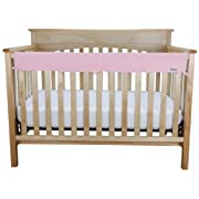 CribWrap Medium Jersey Knit Front Rail Cover in Pink