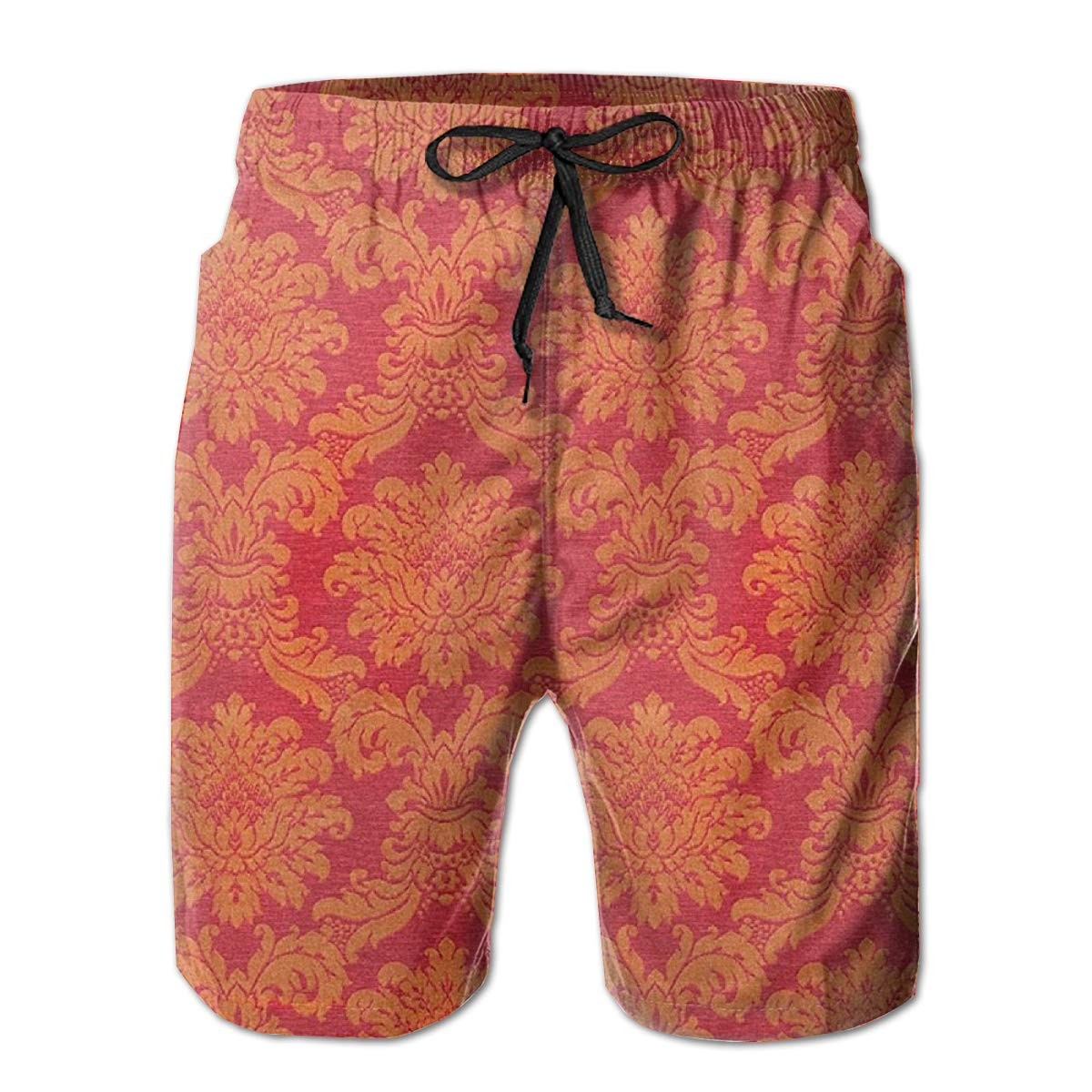 Galaxy Voyage Indian Red Boys Mens Swim Trunks Surf Pants 3D Swimming Trunks Board Shorts for Men