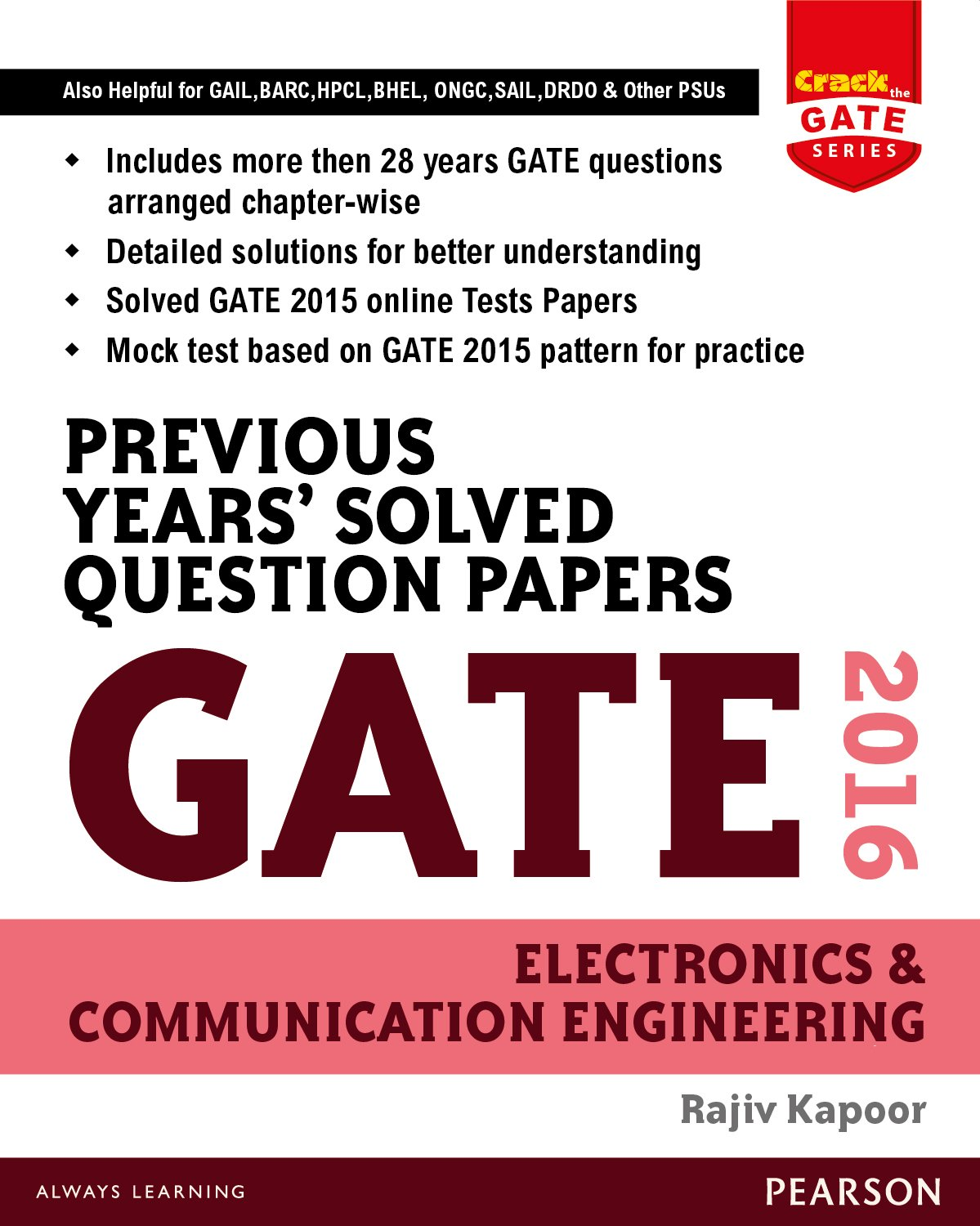 Download Previous Years' Solved Question Papers Gate 2016 Electronics and Communication Engineering pdf