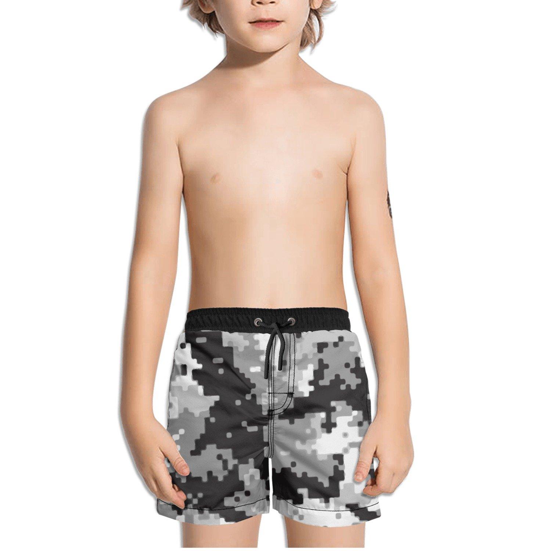 Ouxioaz Boys Swim Trunk Digital Camo Beach Board Shorts