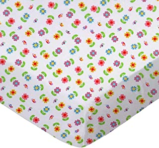 product image for SheetWorld Fitted 100% Cotton Percale Bassinet Sheet 15 x 33, Colorful Roses, Made in USA