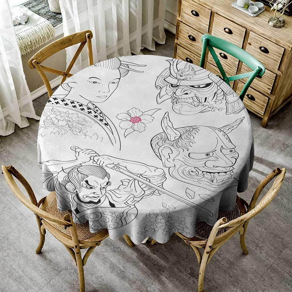 Wendell Joshua Outdoor Tablecloth 9 inch Kabuki Mask,Oriental ...