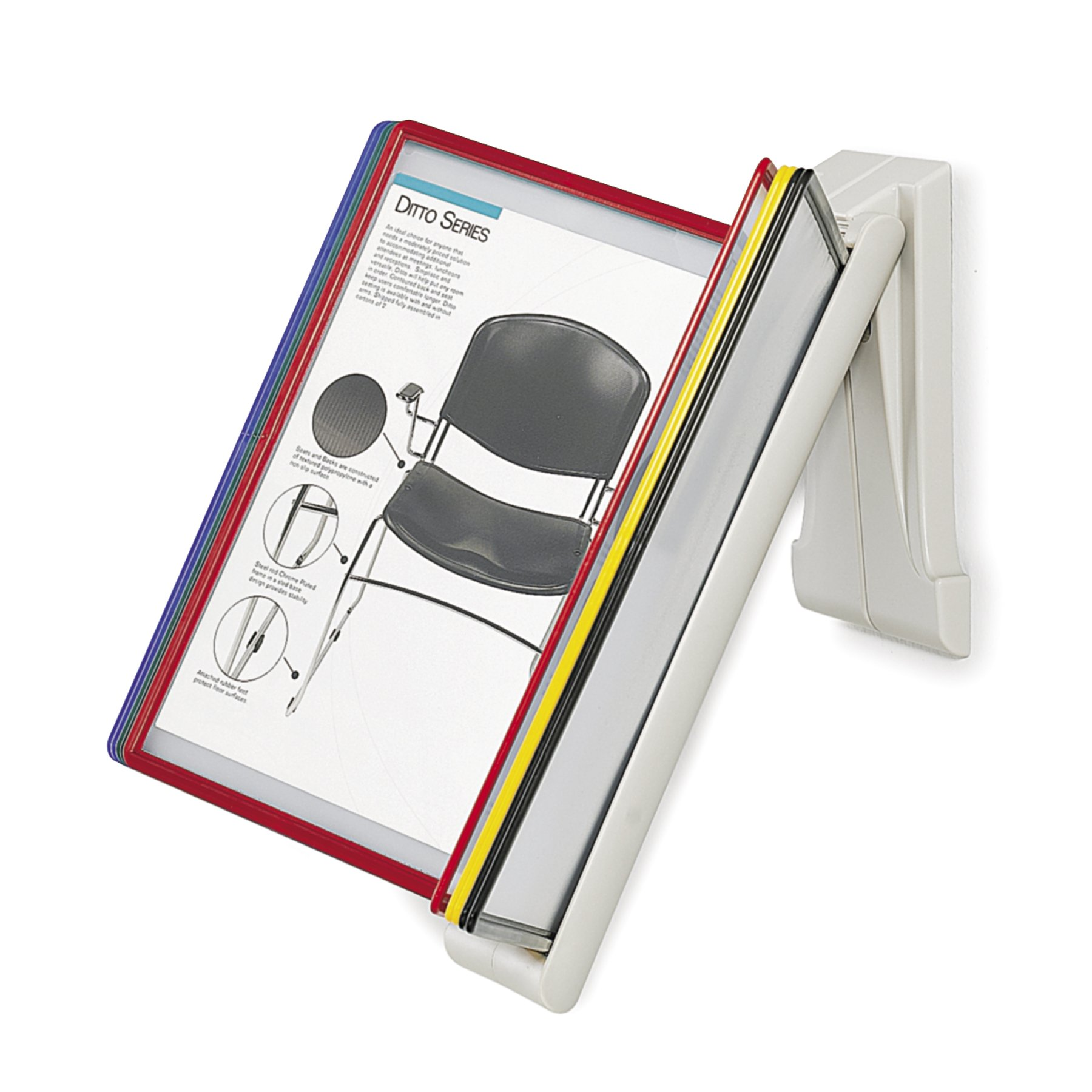 Safco Model QuickFind Document Holder-Wall Mount, Clear (6161)