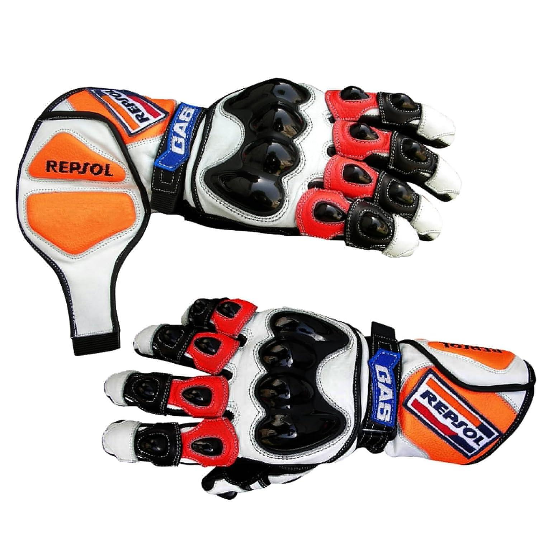Motorbike Gloves Biker's first choice Repsol Honda Motorbike Glove Racing Moto GP (Large) ROX Fit 1001G