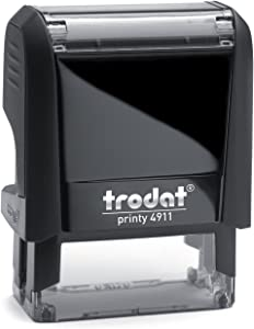 "Trodat Printy 4911 Personalized Individual Custom Self Inking Stamp (9/16"" x 1-1/2"")"