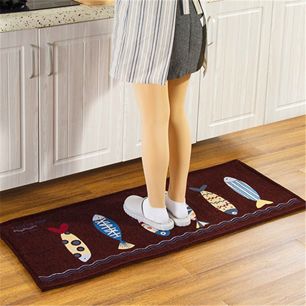 Ukeler Kitchen Rug Runner Washable Non-slip Durable Laundry Room Mat, 17.7''×47.2''