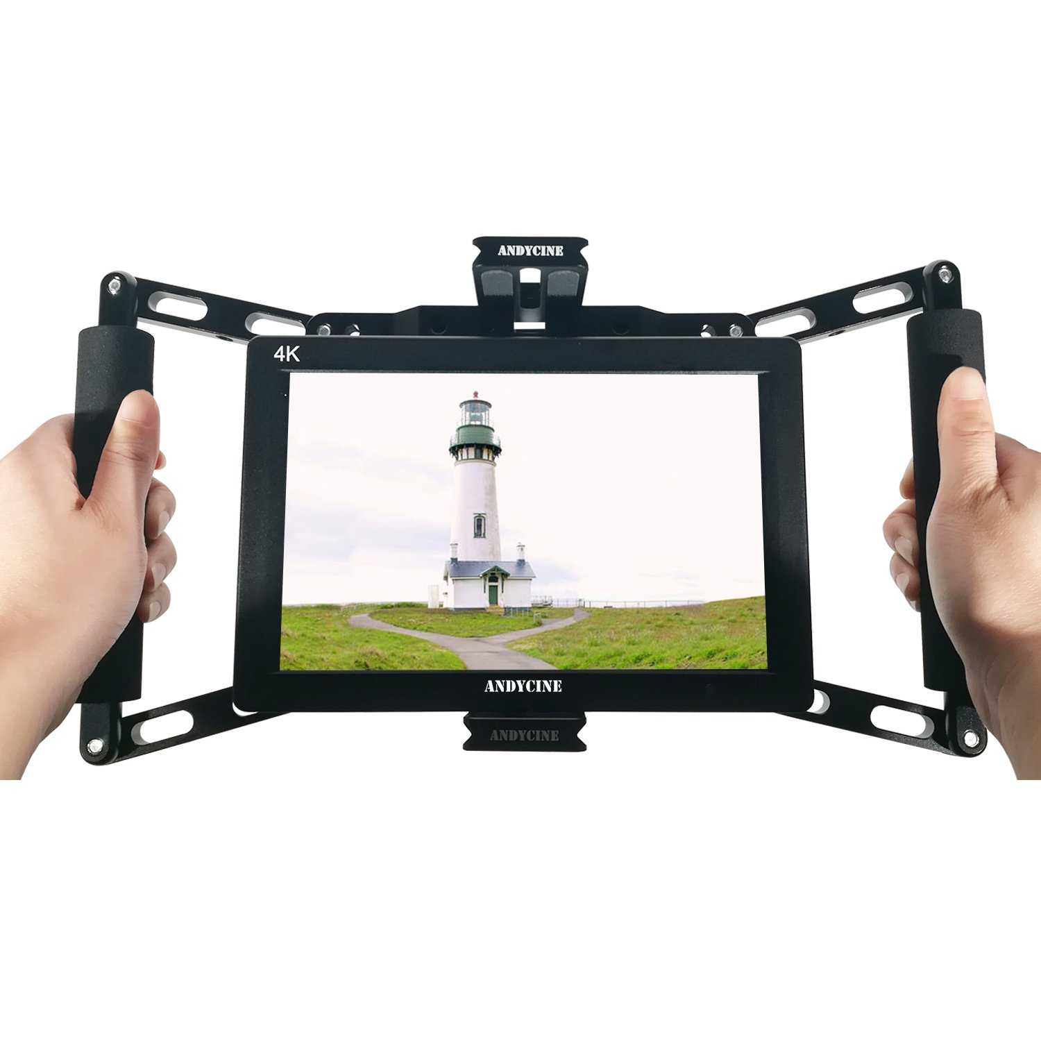 ANDYCINE Monitor Cage Director Monitor Cage for 4 inch/5 inch/7 inch Camera-Top Field Monitor Such as Feelworld F450/F760/F759/F737/F7/F7S/T7/ANDYCINE A6 Monitors