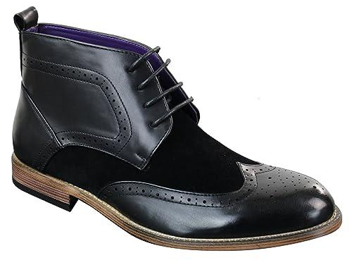 Bottes et boots Bottines homme style Chelsea Brogue hauteur
