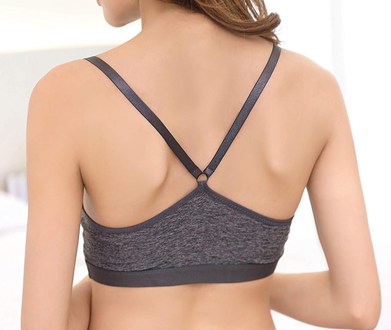 SHEKINI Soutien-Gorge Sport Fitness Vetement Brassiere Sommeil Bralette Respirante Tank Top pour Jogging Yoga-sans Armature-Femme