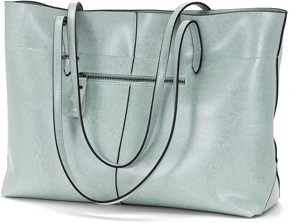 Womens Handbag Genuine Leather Tote Shoulder Bags Soft Hot Shoulder Bag Green