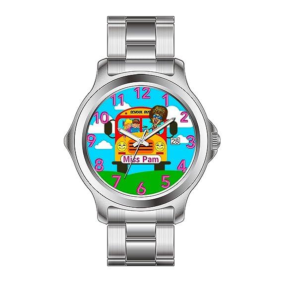 FDC – Navidad regalo relojes mujer Fashion FECHA de cuarzo japonés reloj de pulsera de acero