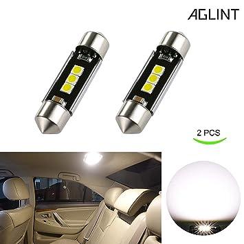 AGLINT 36mm C5W LED CANBUS Bombillas LED Coche Muy Brillante 3030 3SMD 6000K Xenon Blanco 6411