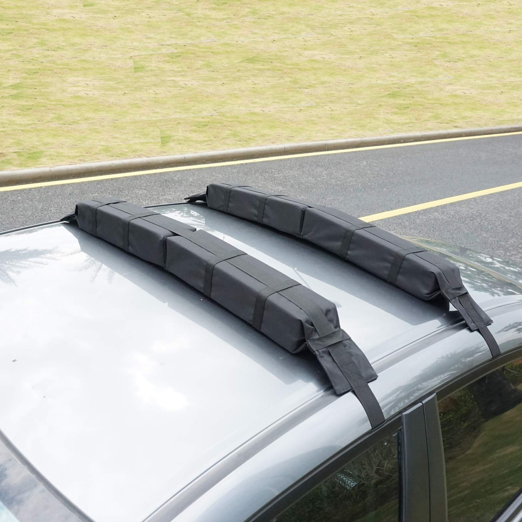 Paddle Board Car Racks >> Roraima Universal Folding Lightweight Anti Vibration Roof Rack Pad For Kayak Canoe Surfboard Paddle Board Sup Snow Board And Water Sports Accessories