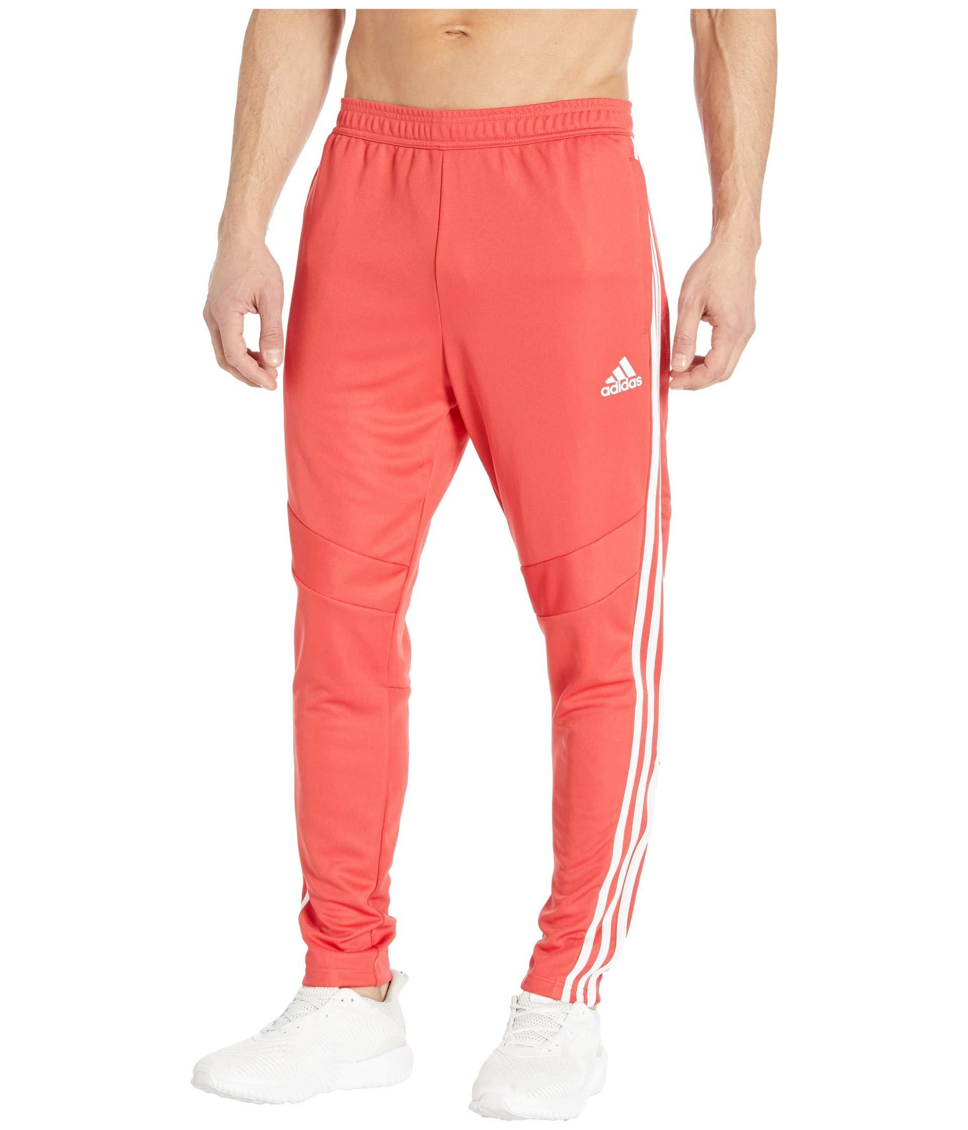 adidas Men's Tiro 19 Pants, Glory Red/White, X-Small