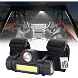 Kemimoto UTV Dome Light Universal Roll Bar Cage Mount Interior Lights Compatible with UTV Polaris RZR Can Am Talon Yamaha Kaw
