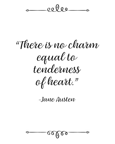 Amazon.com: Jane Austen, There is No Charm, Quote Wall Art ...