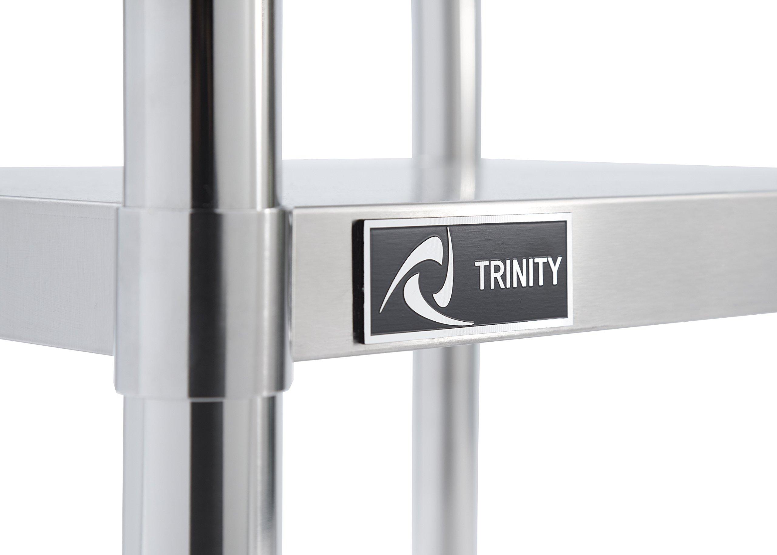 TRINITY EcoStorage NSF Stainless Steel Table, 24-Inch by Trinity (Image #6)