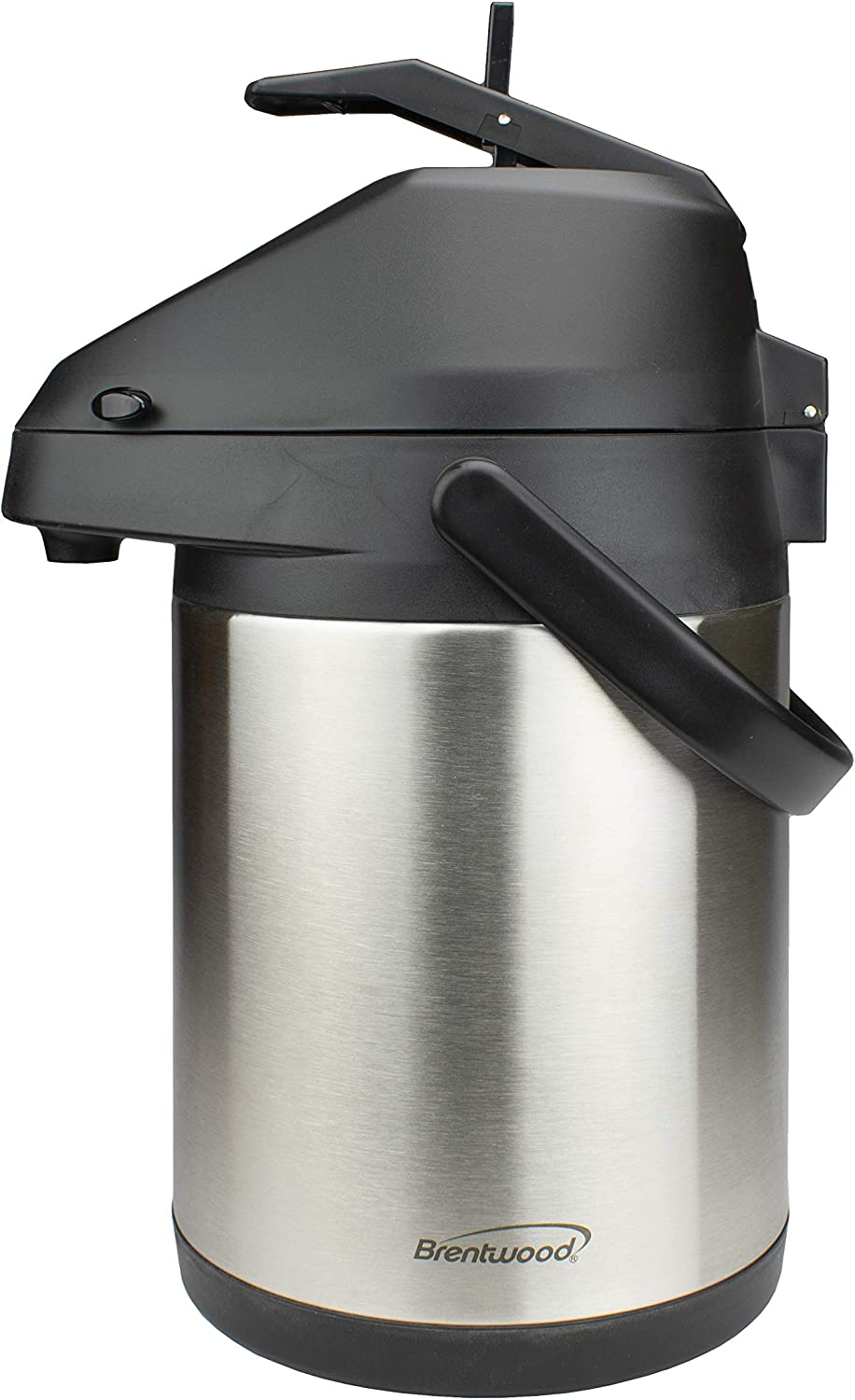 Brentwood CTSA-2500 2.5-Liter Airpot Hot & Cold Drink Dispenser, Stainless Steel