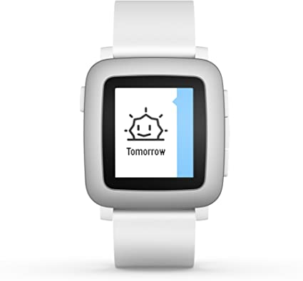 pebble Time Smartwatch White