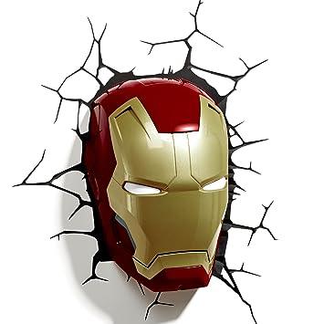 Amazon marvel comics 3d iron man mask wall light home kitchen marvel comics 3d iron man mask wall light aloadofball Images
