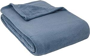 Cozy Fleece Inc.-Alta Luxury Hotel Fleece Blanket-Queen-Denim
