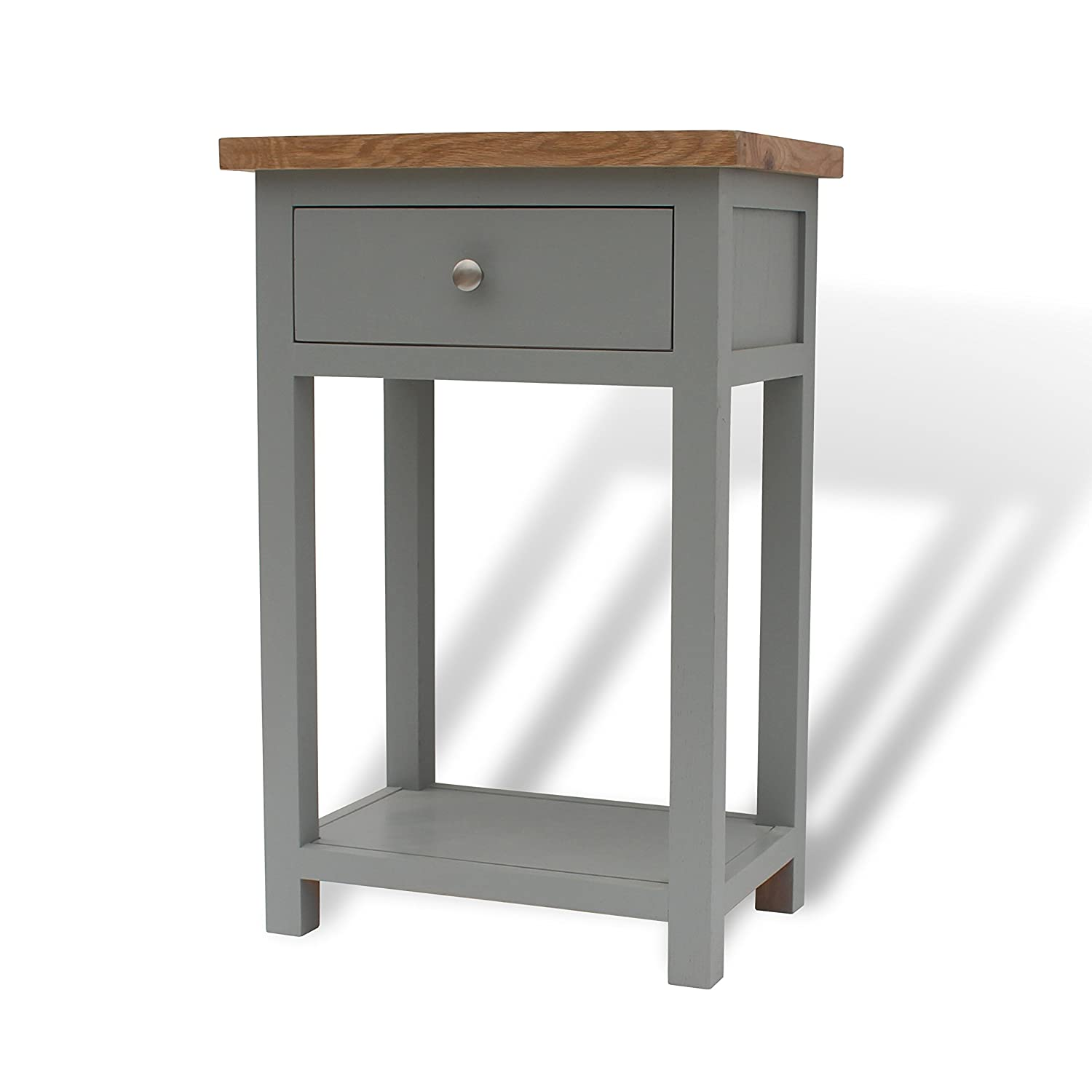 98cc6931d817 GREYSTOKE PAINTED GREY OAK SMALL CONSOLE TABLE HALL TABLE SOLID WOOD TELEPHONE  TABLE  Amazon.co.uk  Kitchen   Home